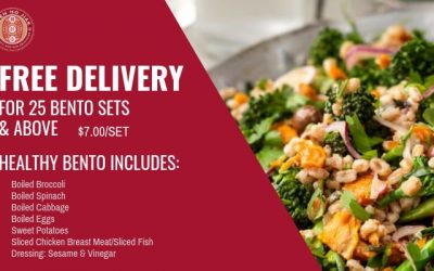 Free delivery for our Healthy bento sets!!